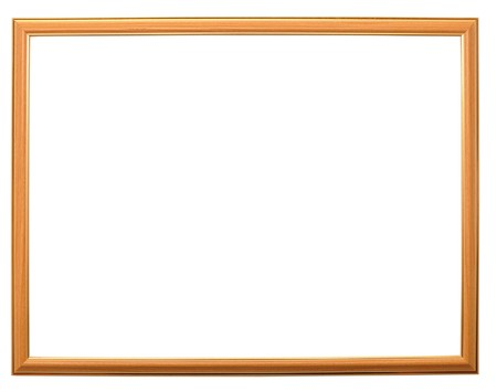 wooden photo frame isolated on white background Stock Photo - 8229120