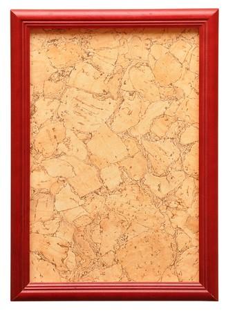 wooden photo frame isolated on white background Stock Photo - 8229227