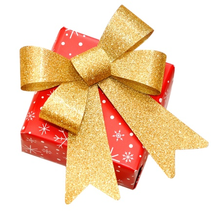christmas gift box isolated on the white background Stock Photo - 8337944