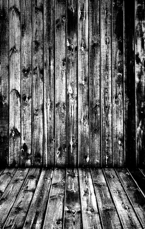 very old wooden interior, is empty for your design  Stock Photo - 8337994