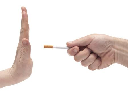 non smoking: non smoking woman saying his partner to stop smoking