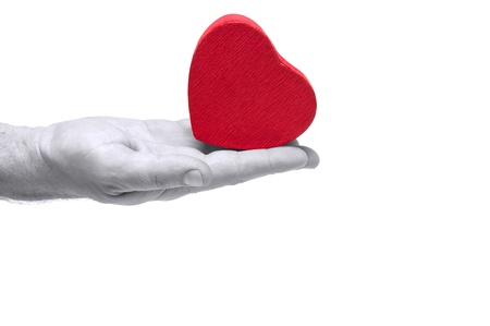 Heart in hand conceptual image. Love, care, health themes. Stock Photo - 8572553