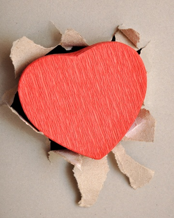 torn paper heart photo