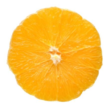 slice of orange isolated on white Stock Photo - 8889586