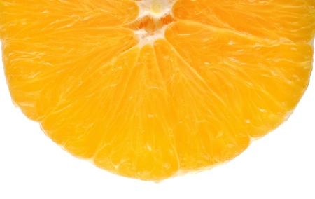 slice of orange isolated on white Stock Photo - 8889611
