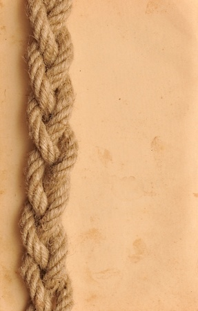 old paper with rope border  photo