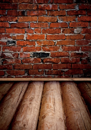 old room with brick wall : can be used as background Stock Photo - 8993133