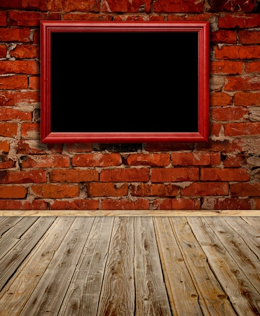 Old grunge room with wooden frame Stock Photo - 9089870