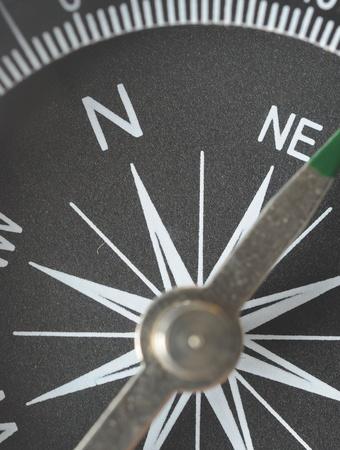 surveyor: detail closeup compass  Stock Photo