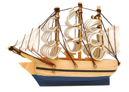 model classic boat on white background Stock Photo - 9165195