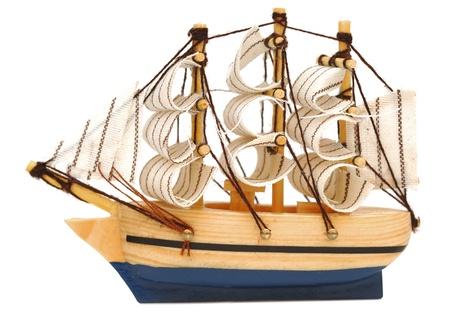 model classic boat on white background Stock Photo - 9165195