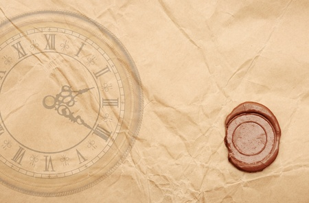 vintage wallpaper background with clock  photo