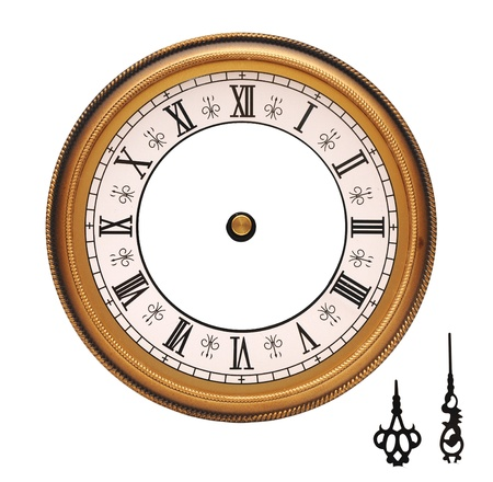 vintage wall clock isolated on white background  photo