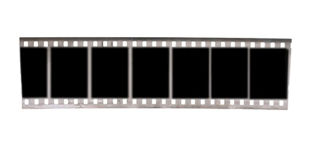 celluloid film: black and white negative film  isolated on white background