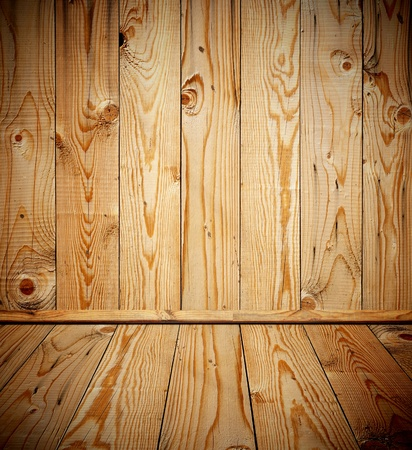 vintage brown wooden planks inter  Stock Photo - 9470058