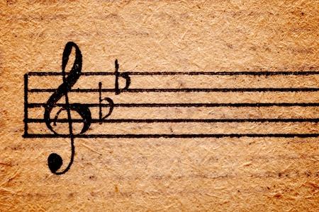 orquesta clasica: hoja de m�sica antigua con textura grungy