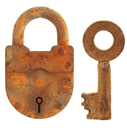 vintage keys and padlock  Stock Photo - 9703162
