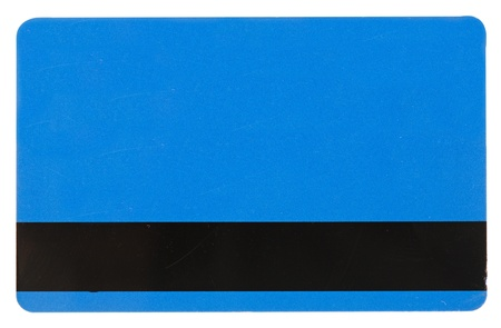 blue credit card isolated over the white background  photo