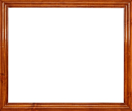 rectangle frame: photo of wood frame for a picture, isolated on white