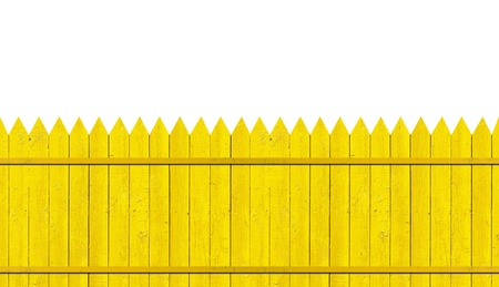yellow picket fence Stock Photo - 9790374