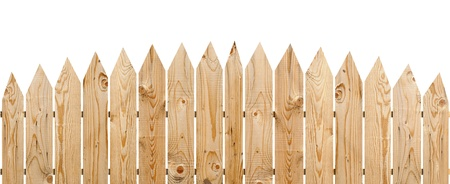 Wooden fence isolate on white background  Stock Photo - 10002289