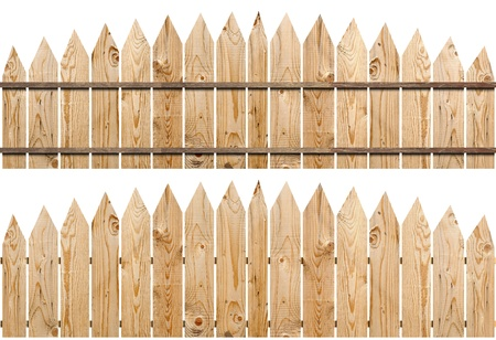 a wooden fence isolated on white including clipping path  Stock Photo - 10002300