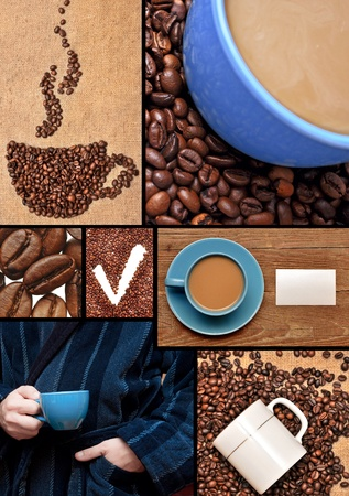 caffee: Cup from coffee on coffee grains Stock Photo