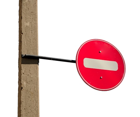 No entry traffic sign isolated on white background  photo