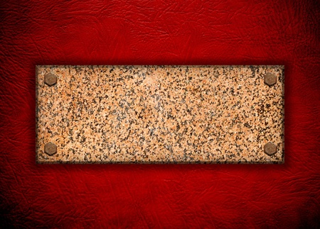 granite stone on red wall  Stock Photo - 10002408