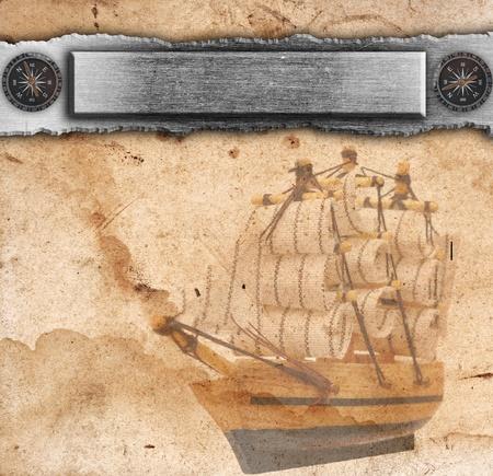 Nautical ancient background photo