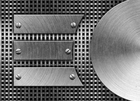 metal plate: metal template background Stock Photo