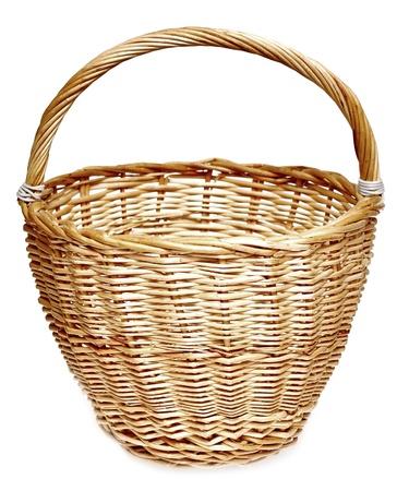 canasta de pan: Una canasta vacía sobre un fondo blanco