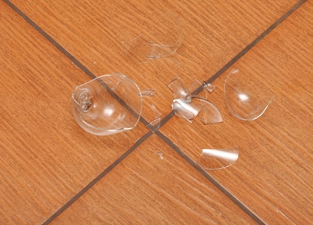 glass shards on the floor Stock Photo - 10303548