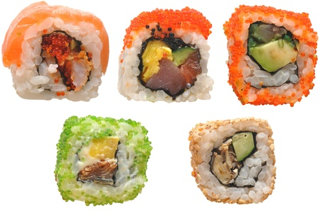 Sushi isolated over white background Stock Photo - 10367548