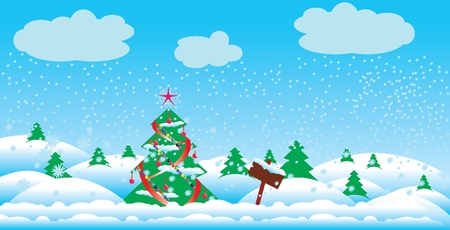 Vector Christmas tree Stock Vector - 10804765