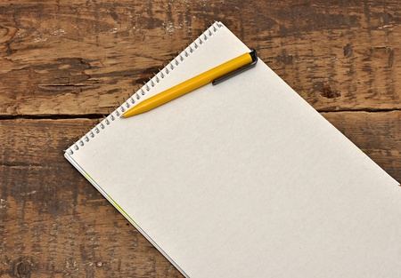 blank sheet of paper on the old table Stock Photo - 11155052