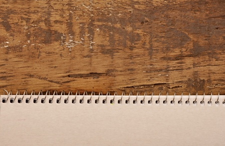 blank sheet of paper on the old table Stock Photo - 11155056