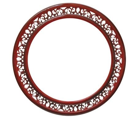 vintage round frame isolated on white background Stock Photo - 11163674