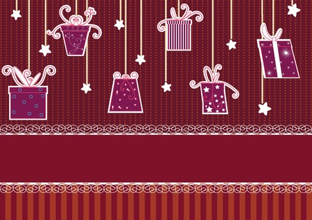 Set of cute gifts boxes and elements for design  Vector