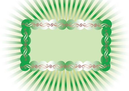 frame on a striped background Stock Vector - 11234646