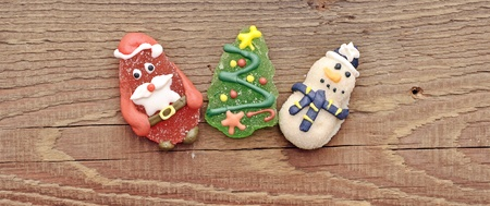 Christmas toy on wood background photo