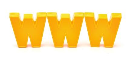 world wide web: World wide web on white background