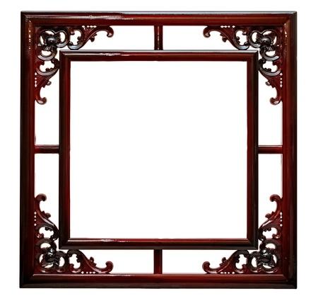 Lege vintage frame geïsoleerd op witte achtergrond