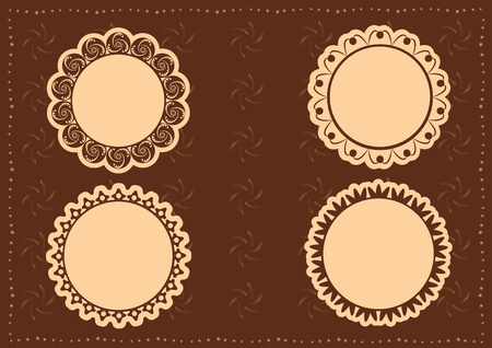 vintage lace frames. vector illustration Vector