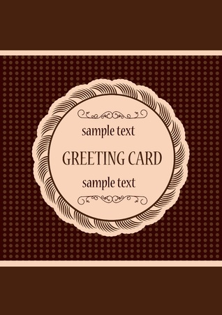 Retro greeting card template design Vector