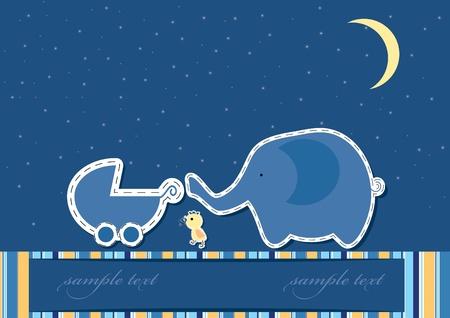 Vector-kaart voor baby aankomst Stock Illustratie
