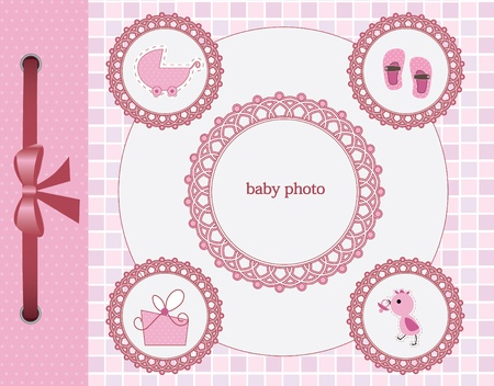 dummy: Card with photo frame for your baby girl