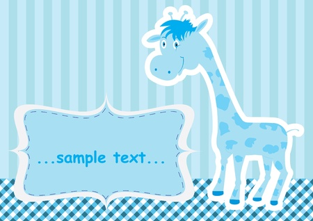 Baby shower card with cute giraffe Stock Vector - 12052659