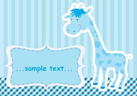 Baby shower card with cute giraffe Stock Vector - 12052659
