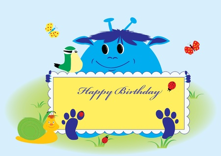 happy birthday card. vector illustration Stock Vector - 12052668